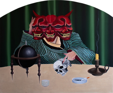 Mental Confusion, 100x110cm, oil on wood