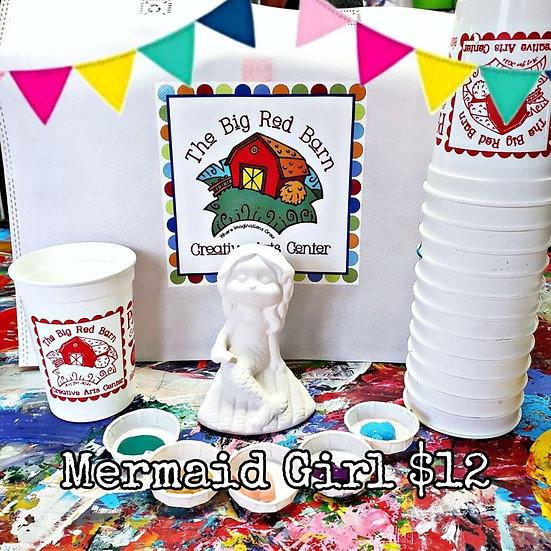 Mermaid Girl Ceramic Art Kit
