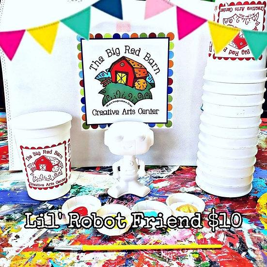 Lil' Robot Friend ~ Ceramic Art Kit