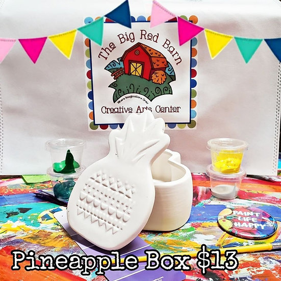 Stand Tall & Wear a Crown! Pineapple Box Ceramic Art Kit