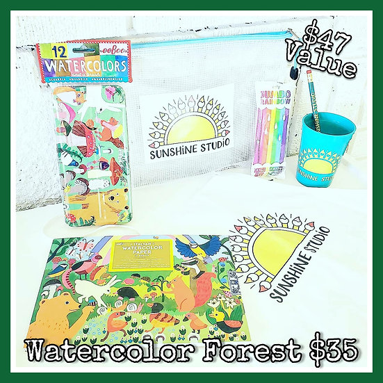 Watercolor Forest 🐻 Gift Package (No Apron)