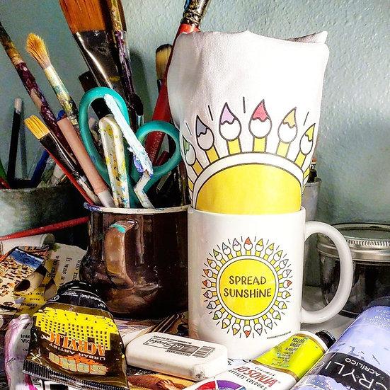 Sunshine Studio Mug & Apron Combo Set