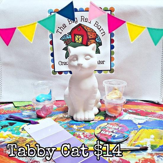 My Sweet Tabby Cat ~ Ceramic Art Kit ~