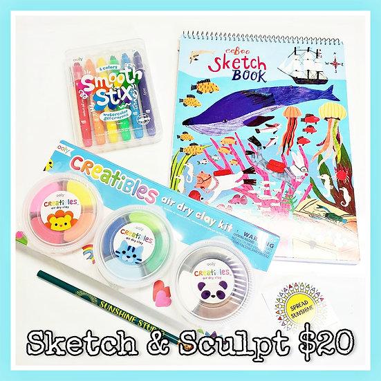 Sketch & Sculpt 🎨🌞 🐳 Ocean Gift Package
