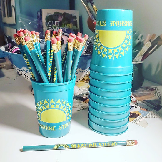 Sunshine Studio Paint Water Cup & Pencil Combo