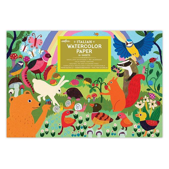 eeBoo Watercolor Pad- Forest Friends