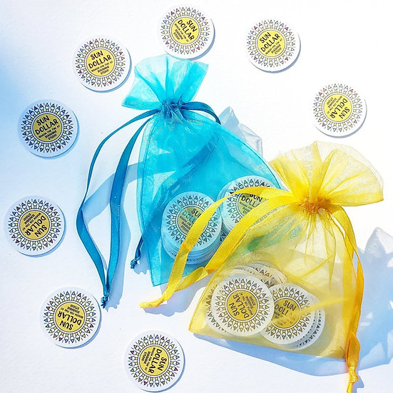 20 Sun Dollars ~ $20 Gift Certificate ~ Packed in Aqua Organza Bag