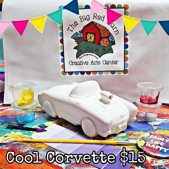 Retro Cool Corvette ~ Ceramic Art Kit ~