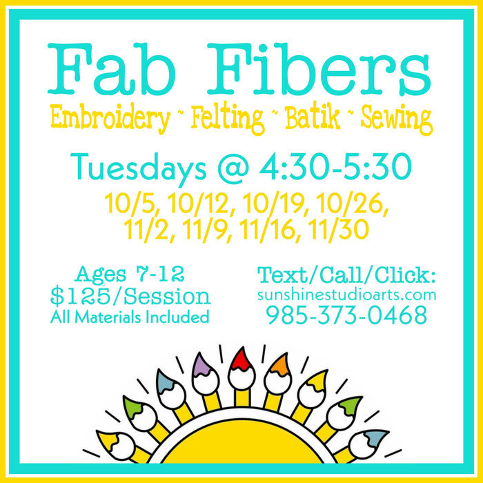Fab Fibers ~ Kids' Fiber Arts Class