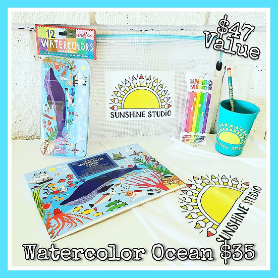 Watercolor Ocean 🐳 Gift Package (No Apron)