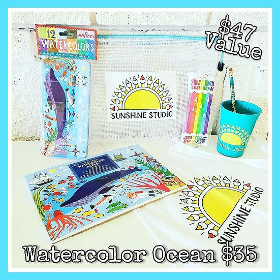 Watercolor Ocean 🐬🦀🐳 Deluxe Gift Package