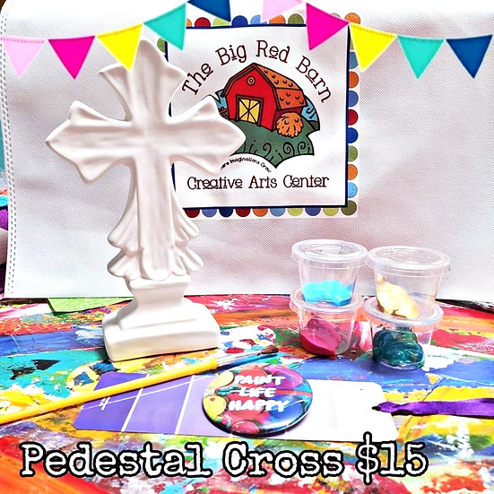 Pedestal Cross~ Ceramic Art Kit ~