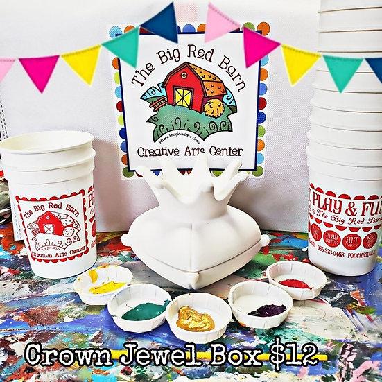 Crown Jewel Treasure Box Ceramic Art Kit