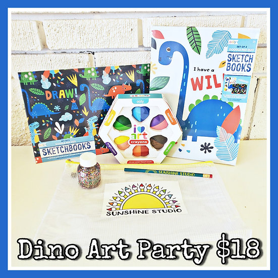 Dino Art Party 🦖 Gift Package