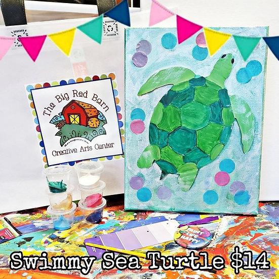 Swimmy Sea Turtle Canvas Kit