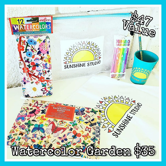 Watercolor Garden 🌻 Gift Package (No Apron)