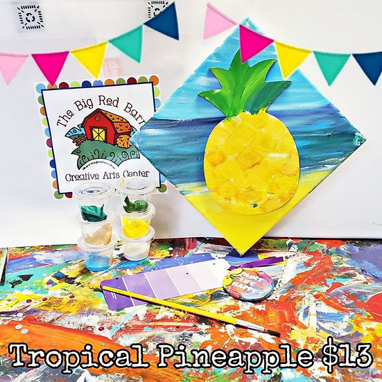 Tropical Pineapple Canvas Kit