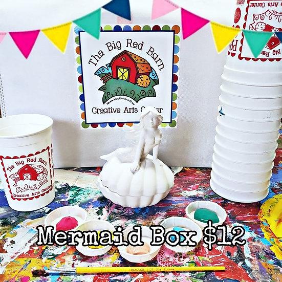 Mermaid Treasure Box Ceramic Art Kit
