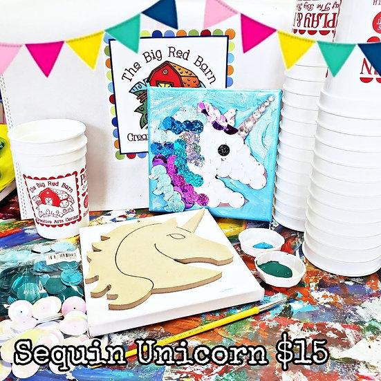 Sequin Unicorn Canvas Kit