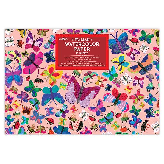 eeBoo Watercolor Pad - Beautiful Butterflies