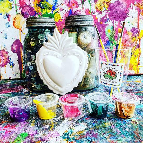 Have a Heart Plaque ~ Ceramic Art Kit