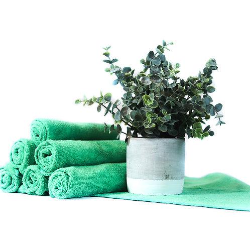 Green Microfiber Towels