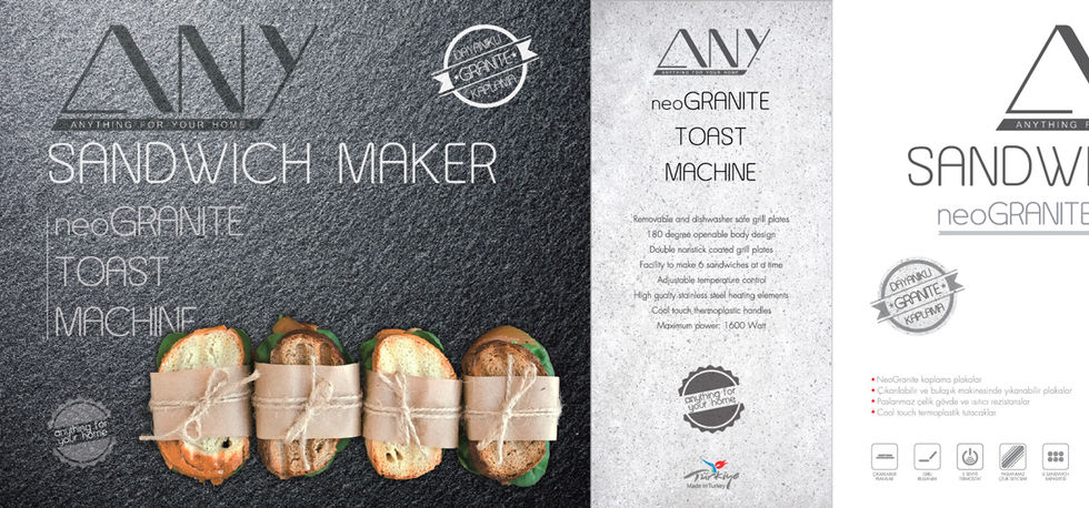 Any Tost Makinesi Ambalaj Tasarımı