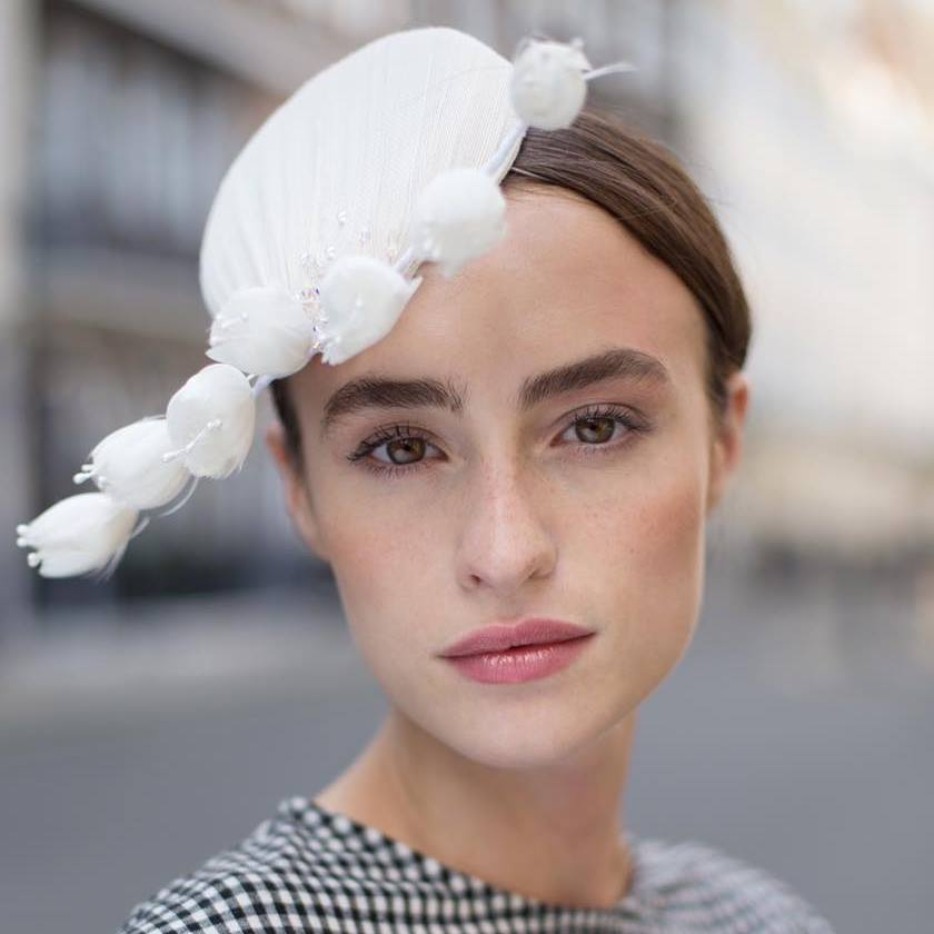 Ivory bridal fascinator