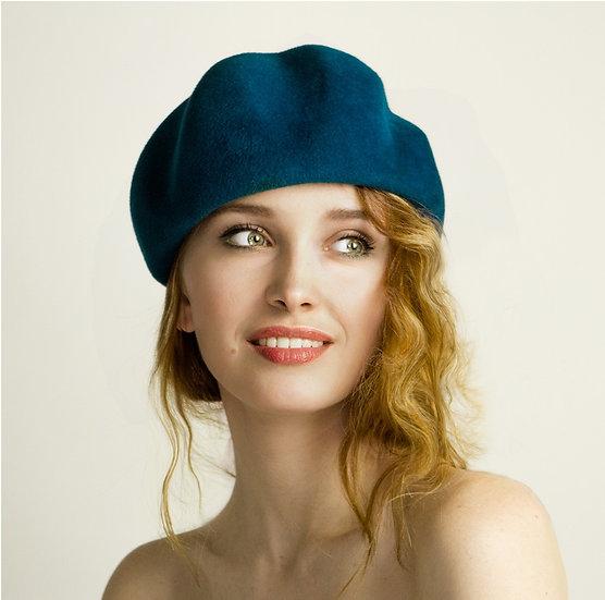 60's style felt beret