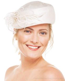 40's style bridal hat