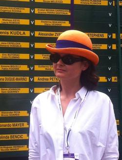 Orange parasisal bowler