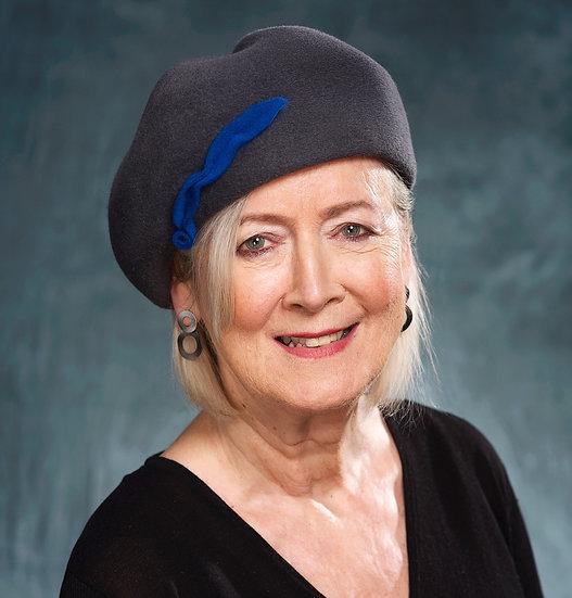 60's style grey felt beret