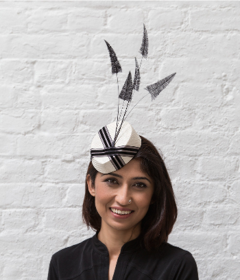 Black&white fascinator