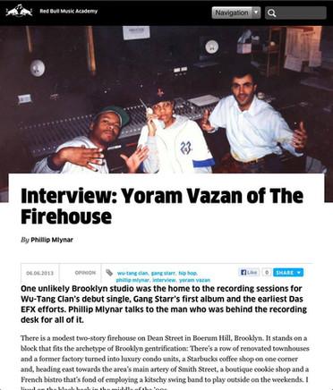 Interview - Yoram Vazan of the Firehouse