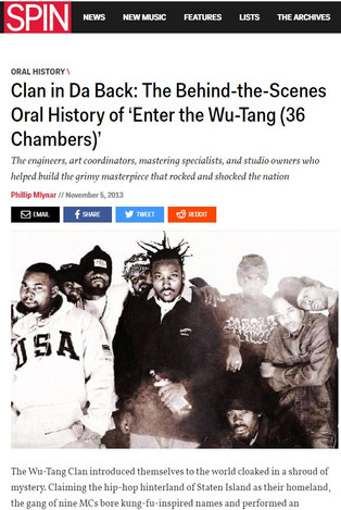 Clan in Da Back: The Behind-the-Scenes Oral History of 'Enter the Wu-Tang (36 Chambers)'