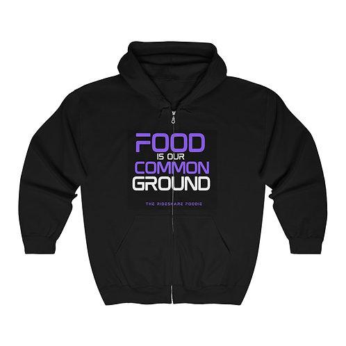 Rideshare Foodie Royal/Black Zip Hoodie