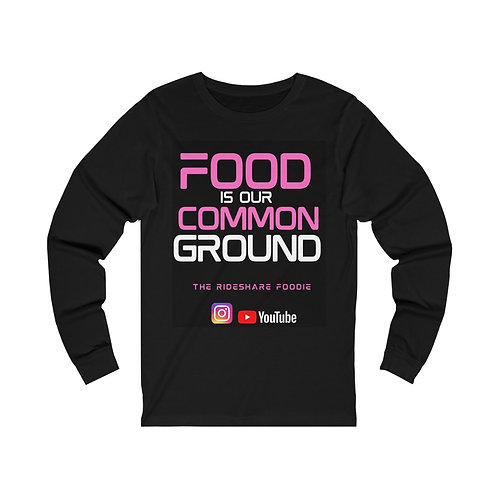 Rideshare Foodie Pink/Black Long Sleeve