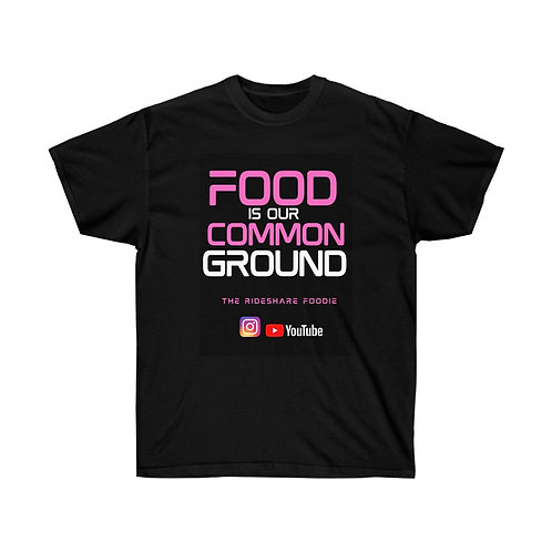 Rideshare Foodie Pink/Black T-shirt