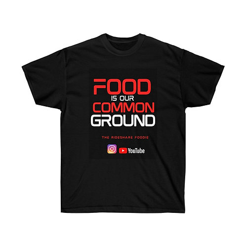 Rideshare Foodie Red T-shirt