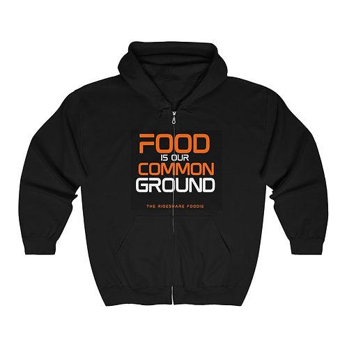 Rideshare Foodie Black/Orange Zip Hoodie