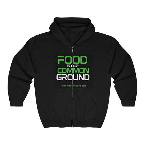 Rideshare Foodie Green/Black Zip Hoodie