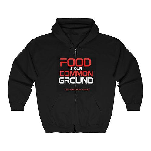 Rideshare Foodie Black/Red Zip Hoodie