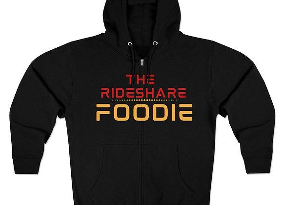 Rideshare Foodie Full Zip Hoodie Black/Red