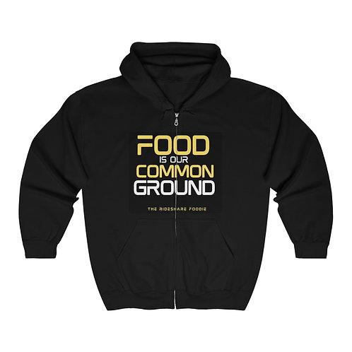 Rideshare Foodie Black/Yellow Zip Hoodie