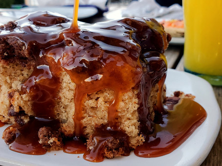 Coffee Cake with Buttermilk Caramel Sauce Anyone?