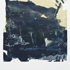 """ Série bestiaire 01 "" Arpaillargues, 2012, monotype on hand made paper, 22.1,5 X in 32 in, 80 X 56 cm. Editions Berville"