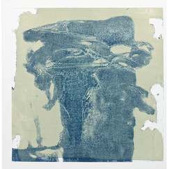 """ Série bestiaire 02 "" Arpaillargues, 2012, monotype on handmade paper 1200 gr,  Editions Berville, 31 X 23 in, 78 X 57 cm"