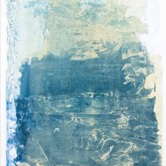 """ Série bestiaire 13 "" Arpaillargues, 2012, monotype, Handmade paper 1200 gr, 48 X 35 in, 120 X 86 cm, Editions Jacques Berville."