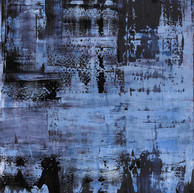 """Thème Variation and Résonnance 06"" London, 2017, oil paint on wood, 44 X 40 in, 110 X 100 cm."