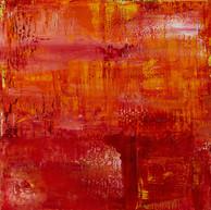"""""""Soleil du désert"""" London, 2015, oil paint on wood, 16 X 16 in, 40 X 40 cm."""